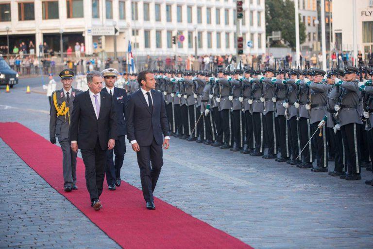 Ranskan presidentti Emmanuel Macron virallisella vierailulla Suomessa 29–30.8.2018. Kuva: Juhani Kandell/tasavallan presidentin kanslia