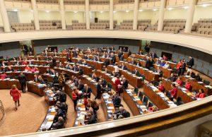 Eduskunta kokoontui vuoden 2018 viimeiseentäysistuntoon 21.12.2018 hyväksyttyäänedellisenä päivänä toisessa käsittelyssähallituksen esityksen eduskunnalle laiksi tiedustelutoiminnanvalvonnasta. Kuva: Hanne Salonen, eduskunta