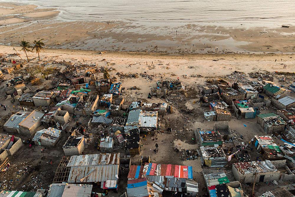 Hirmumyrsky Idai Tuhosi 90 prosenttia rakennuksista puolen miljoonan asukkaan Beiran satamakaupungissa Mosambikissa. Kuva: Lehtikuva / AFP