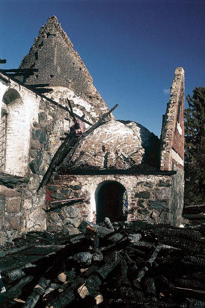 Palaneen Tyrvään kirkon rauniot