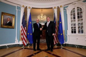 High Representative of the European Union Josep Borrell made his first official visit to the United States and met with US Secretary of State Mike Pompeo in the beginning of February 2020. Photo: European Union