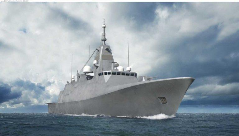 Havainnekuva Pohjanmaa-luokan aluksesta. Kuva: Puolustusvoimat