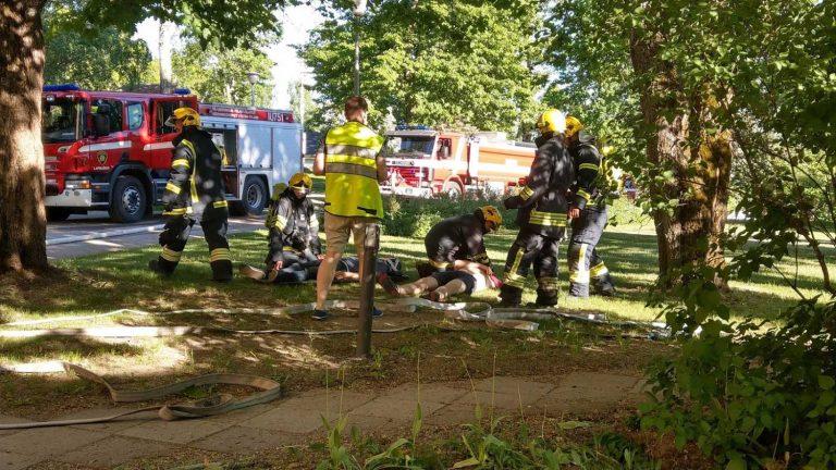 Palo- ja pelastusharjoitus Siviilipalveluskeskuksessa yhteistyössä Itä-Uudenmaan pelastuslaitoksen kanssa.